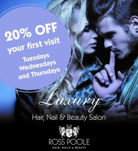 We are offering a 20% discount on your first visit available on Tuesdays, Wednesdays and Thursdays